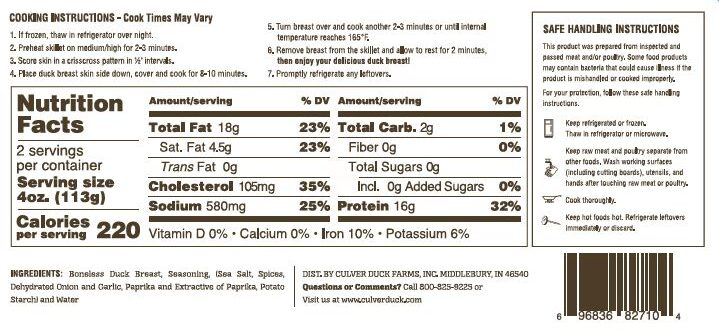 Cajun Marinated Duck Breast Nutrition Facts