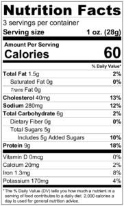 Maple Jerky Nutrition Facts