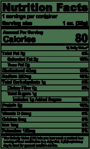 Sriracha Stick Nutrition Facts